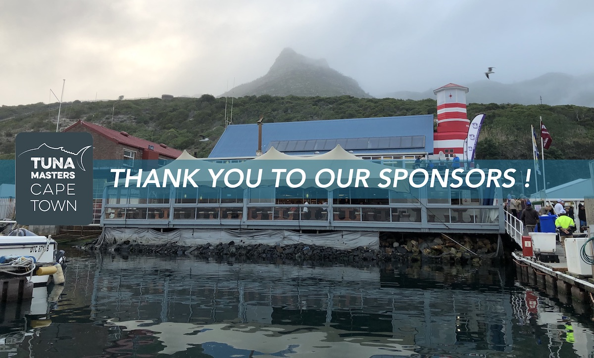 thank you to our sponsors tuna masters cape town 20019